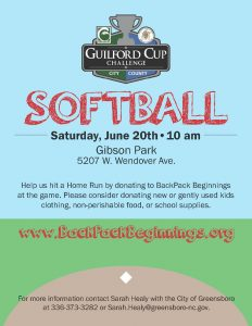 Guilford Cup Softball Flyer
