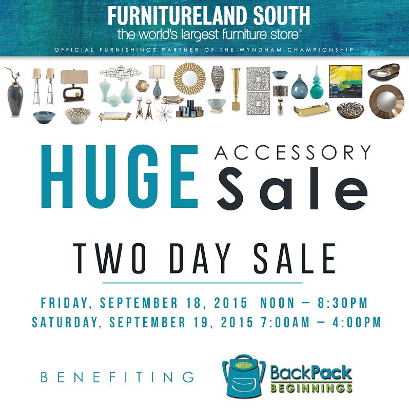 Furnitureland south sale sept 18 19 2015 backpack for Furnitureland south
