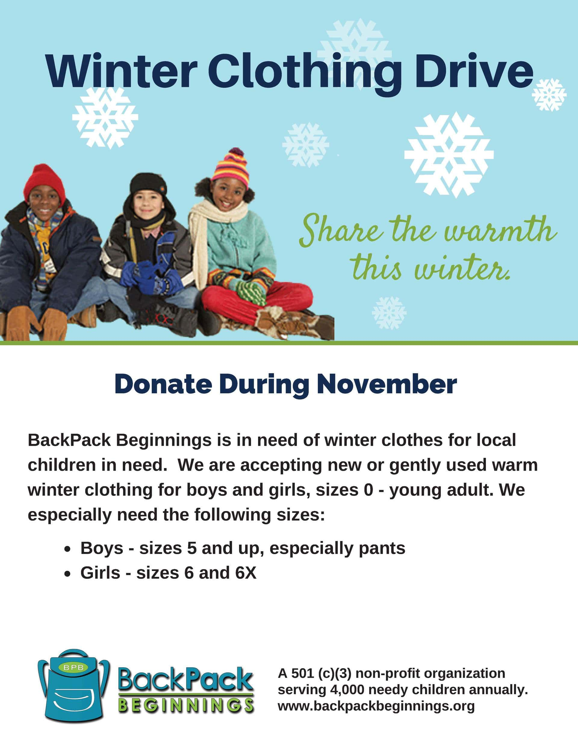 Radiance Yoga Winter Clothing Drive- November 2015 ...