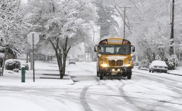 snow day bus