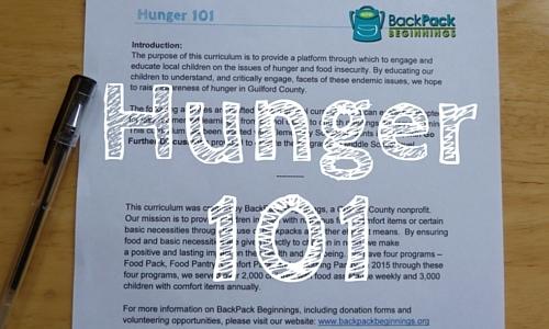 Hunger 101 blog