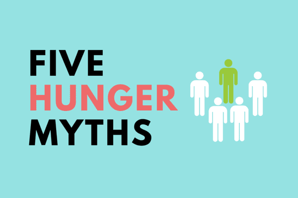 hunger myths 1 in 6 people in america face hunger the usda defines food insecurity as the lack of access, at times, to enough food for all household members.